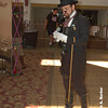 Richard (aka. Mister Darke) prepares to host the Steampunk Fashion Expo.