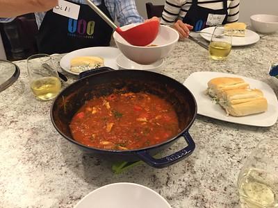 Caldo de mariscos (Seafood soup).