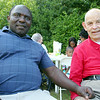 Rehabilitative Resources Inc. held a cook out for its residents t the group home on Rollstone Street in Fitchburg on Saturday.  Having fun at the event is Program staff Supervisor Aoma Muma and Benjamin Barbour. SENTINEL & ENTERPRISE/JOHN LOVE