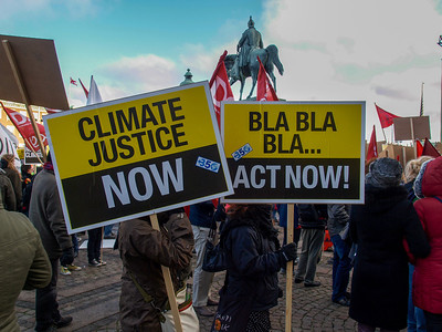 Climate protesters at the Cop 15 summit in Copenhagen. Photo: Martin Bager.