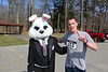 Easter Bunny and 1st place finisher (19:29) Jeffrey Palmerino