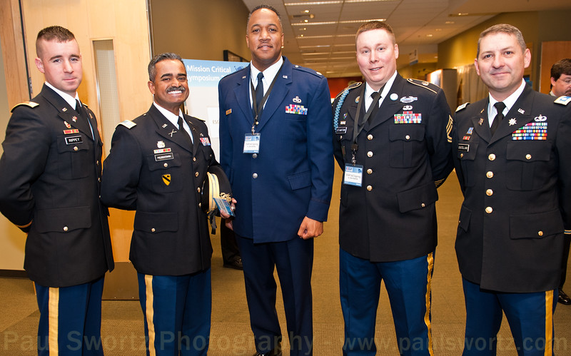Five citizen soldiers who serve in the U.S. military while working at Microsoft Corp.