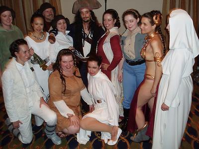 Eleven Princess Leia's, and Jack Sparrow