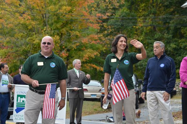 Town Council members Jeff Shorts and Lisa Thomas.