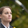 Coventry Police Officer Michelle Hicks during the Purple Heart Award ceremony.