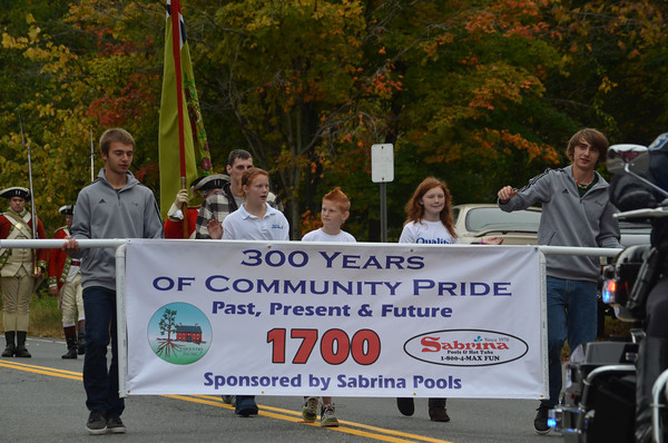 The parade had a division for each century since the town was formed. Sabrina Pools was the sponsor of the 1700s Division.