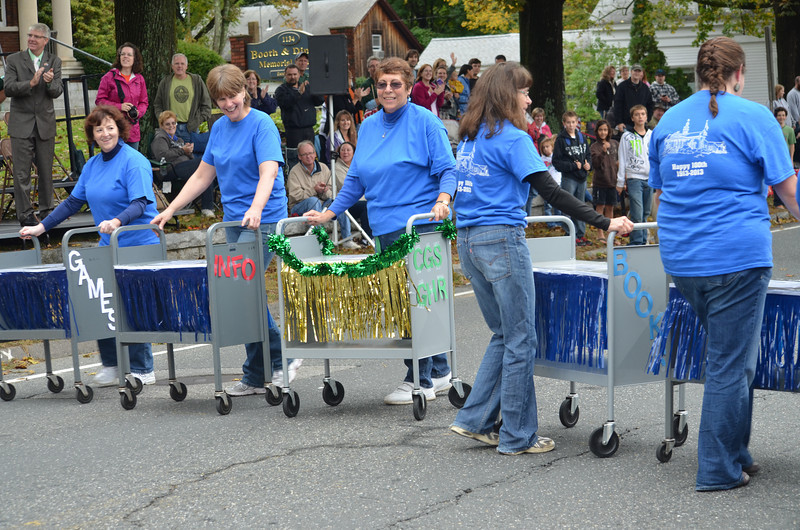 "Booth & Dimock Memorial Library ""Book Cart Drill Team"""