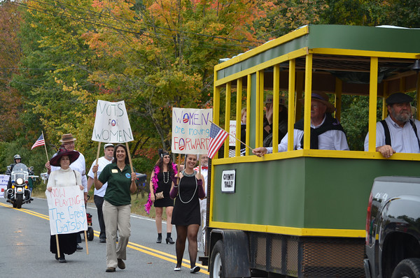 The Coventry Democratic Town Committee chooses several milestones in Town history: the arrival of the trolley, and women's right to vote.