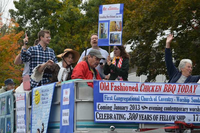 First Congregational Church of Coventry float.