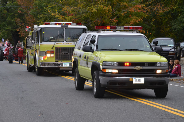 Modern vehicles from North Coventry Volunteer Fire Department.
