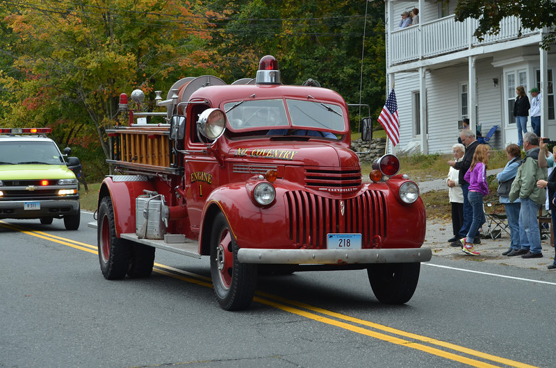 Vintage fire truck from North Coventry Volunteer Fire Department.