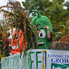 Dancing veggies and animals on the Coventry Agricultural Committee float.