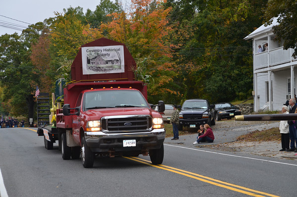 The Coventry Historical Society's float.