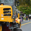 Coventry's Public Works Department cleans up the route at the end of the parade.