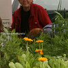 Lovely Carole, selling her herbs.  ;-)