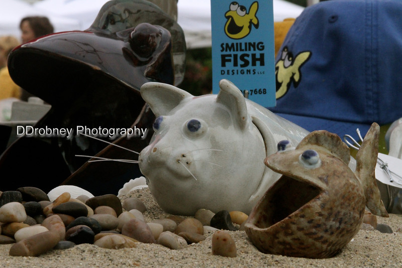 Another new vendor - with fun items.  Loved the 'catfish'...and just had to buy a little fish covered in DOTS!  ;-)