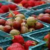 Gooseberries and strawberries...mmmmm.