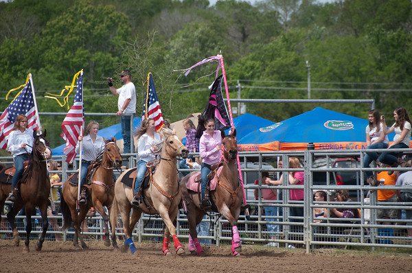 57th Annual Cracker Day Rodeo -  Opening Ceremony on Sat. Mar 31, 2012 in Flagler County