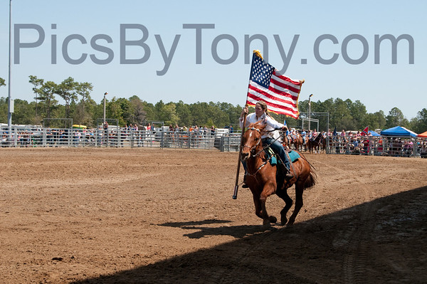 58th Annual Cracker Day Rodeo -  Opening Ceremony on Sat. Mar 30, 2013 in Flagler County