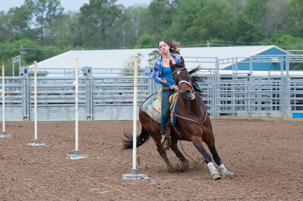 57th Annual Cracker Day Rodeo -  Pole Bending Riders on Sat. Mar 31, 2012 in Flagler County