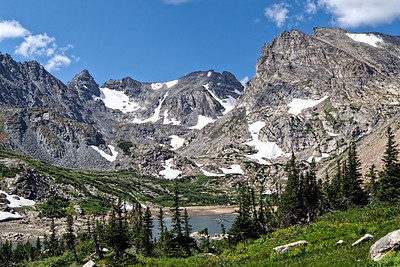 Indian Peaks Wilderness - Navajo, Apache, Shoshoni - from Lake Isabelle