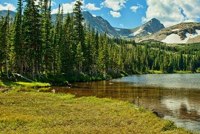 View from Mitchell Lake - Pawnee Peak, Mt. Toll, and Paiute Peak