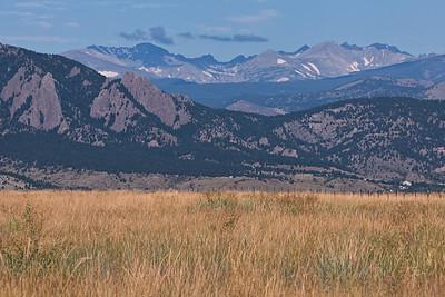 Prairie, Flatirons, Indian Peaks