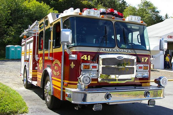Cressona Fire Co # 1 houses Engine 41-17, a 2007 E-One 1500 gpm Typhoon Pumper