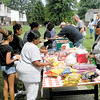 Hot dogs, snacks and drinks were served during the Crestview Gardens outreach. — Dan Irwin