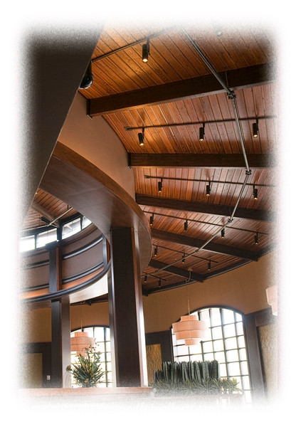 Architectural detail of a restaurant in a casino in Cripple Creek, Colorado; detail in this image is best viewed in a larger size.