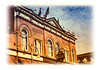 A closeup of the detail on a building in Cripple Creek, Colorado; detail in this image is better viewed in a larger size.