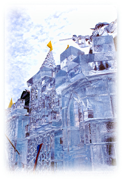 An icy castle in Cripple Creek, Colorado; detail in this image is better viewed in a larger size