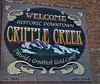 "Welcome Historic Downtown Cripple Creek--""World's Greatest Gold Camp""  est. 1892  elev. 9494'"