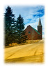 A church in Cripple Creek, Colorado; detail in this image is better viewed in a larger size.