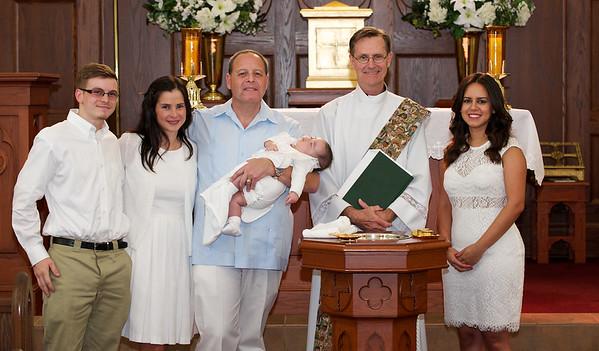 Cristóbal DeFeria Baptism 2014.