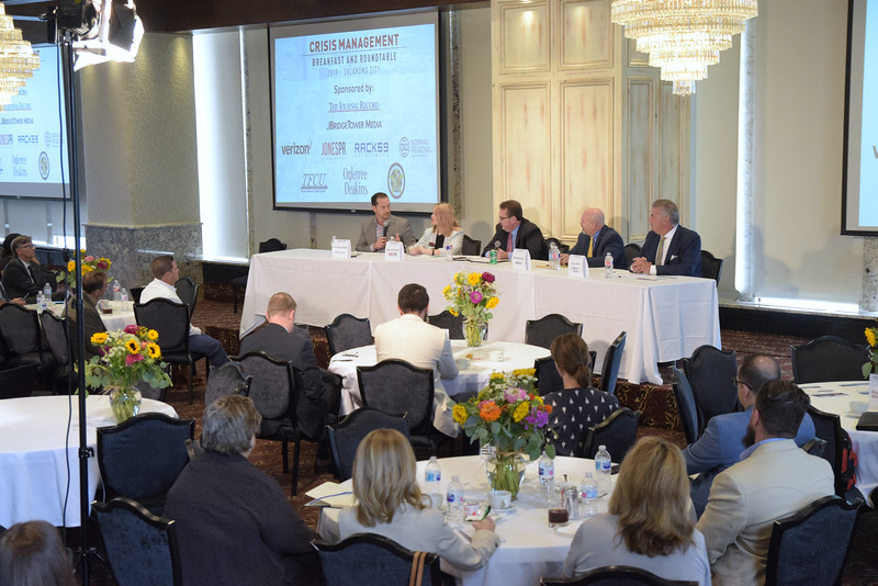 The 2nd group during the Crisis Management Roundtable event held at the Petroleum Club in Downtown OKC, 8-21-2019.  photo by Mark Hancock