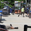 Lowell Police, Fire, UMass Lowell Police, Trinity, LGH and UML EMS, and NEMLEC participate in critical event training at LeLacheur Park involving a simulated attack by gunmen. (SUN/Julia Malakie)
