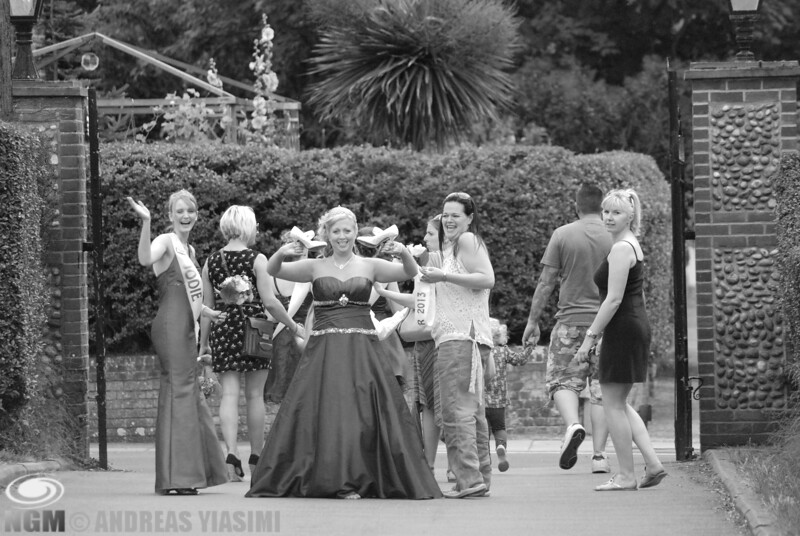 Cromer royal family on location at North Lodge Park for their official photo shoot