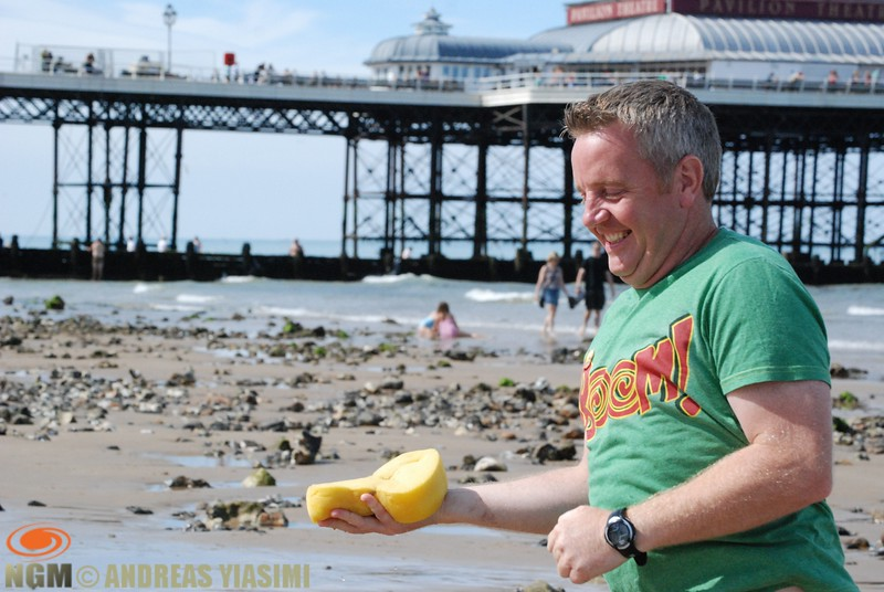 Fun day on Cromer beach, stone painting, racing and tug of war competitions.