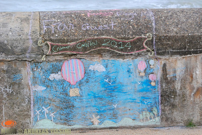 Chalk on the wall