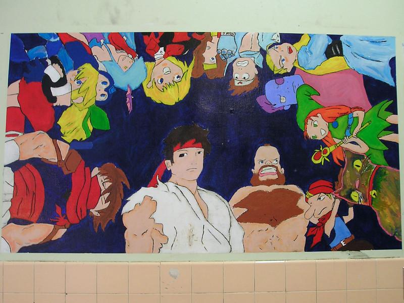 Anime wall artwork.