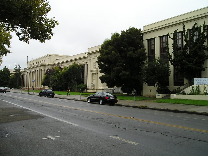 Alameda High School, scene of the crossword puzzle tournament. Took up a good portion of an entire block.