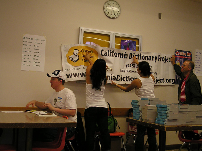 The tournament was to benefit the California Dictionary Project, whose goal is to provide every 3rd grader with a dictionary.