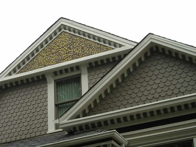 Detail of a Victorian's gleaming golden trim.