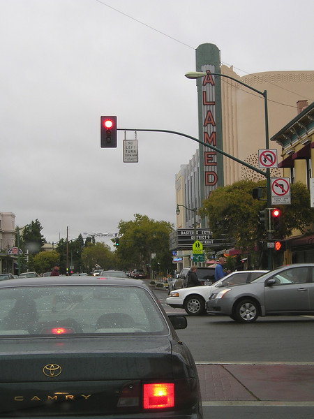Downtown Alameda. Lots of cool older buildings, including the old theater.
