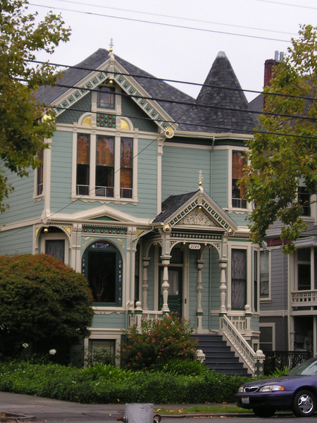 A beautiful Victorian home across from the high school.