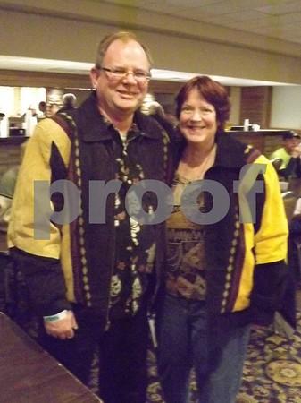 Joel Nighswangel and Diana Curry.