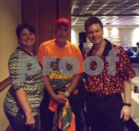Barb and Mike Briggs (founder of the cruise) with Richie Lee.