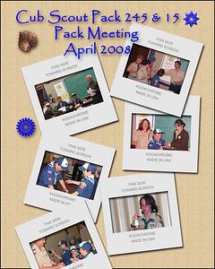Cub Scout Pack Meeting, Packs 245 & 15, April 2008