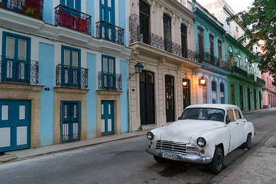 Early morning street scene in Havana